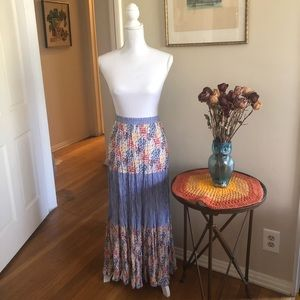 70s Vibes 1 Size Fits all Peasant Skirt